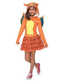 Kids Hooded Charizard Dress Costume - Pokemon
