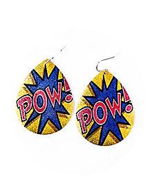 Pow Teardrop Earring