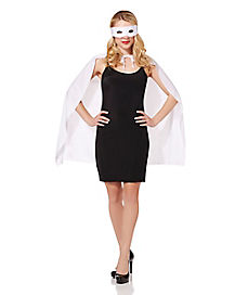White Superhero Costume Kit