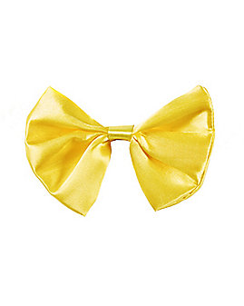 Yellow Satin Bowtie
