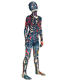 Kids Burnt Zombie Skin Suit Costume