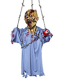 Hanging Barbwire Zombie - Decorations