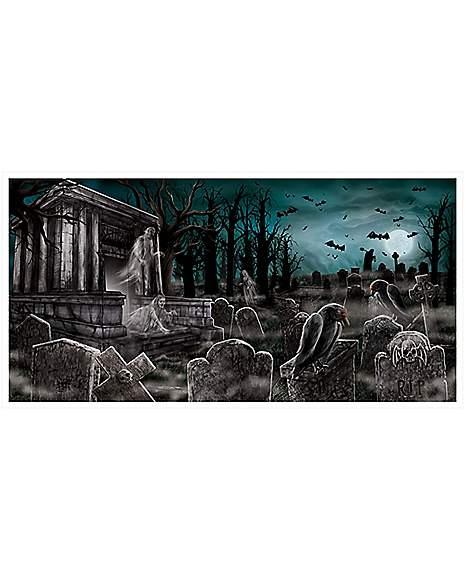 Spirit Halloween Wall Decor : Cemetery banner decorations spirithalloween