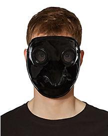 Metallic Black Plague Doctor Mask