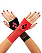 Mismatched Harley Quinn Gloves - Batman