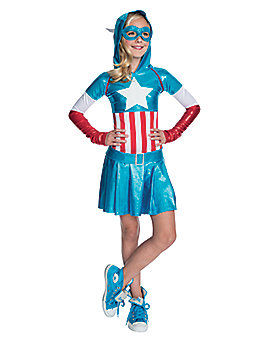 Kids Hooded American Dream Costume - Marvel