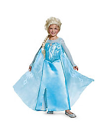 Kids Long Elsa Costume Deluxe - Frozen