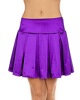 Satin Skirt - Purple