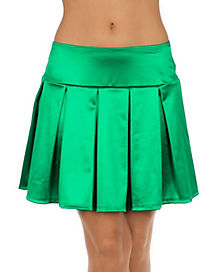 Satin Skirt - Green