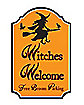 17 Inch Witches Welcome Parking Sign - Decorations