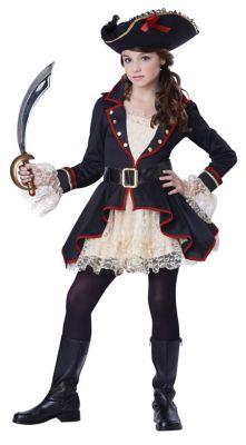 Steampunk Kids Costumes | Girl, Boy, Baby, Toddler Kids High Seas Captain Pirate Costume by Spirit Halloween $49.99 AT vintagedancer.com