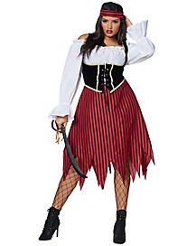 Adult Buccaneer Beauty Pirate Plus Size Costume