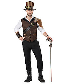 adult steampunk traveler costume - Classic Mens Halloween Costumes