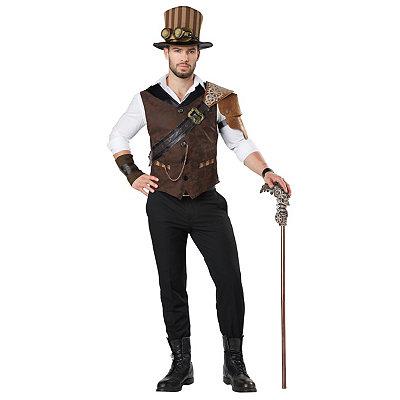 Men's Vintage Style Suits, Classic Suits Adult Steampunk Traveler Costume $59.99 AT vintagedancer.com