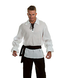 Adult White Gauze Pirate Shirt