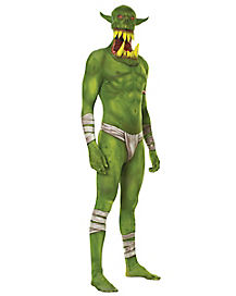 Adult Green Ogre Skin Suit Costume