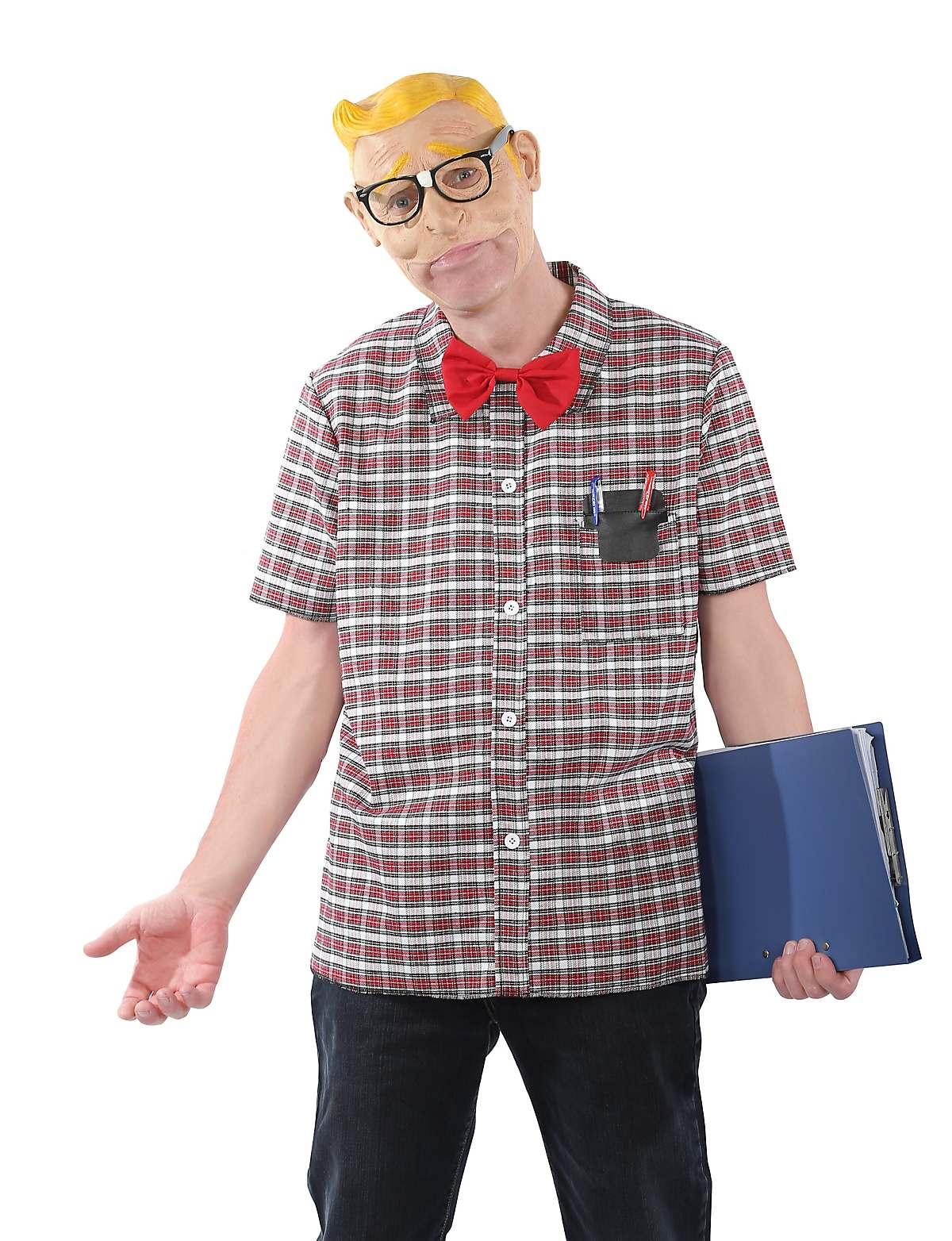 adult grab n go school nerd costume