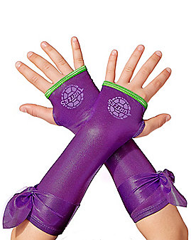Kids Metallic Donatello Arm Warmers - Teenage Mutant Ninja Turtles