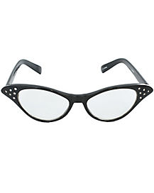 50s Black Rhinestone Cat Eye Glasses