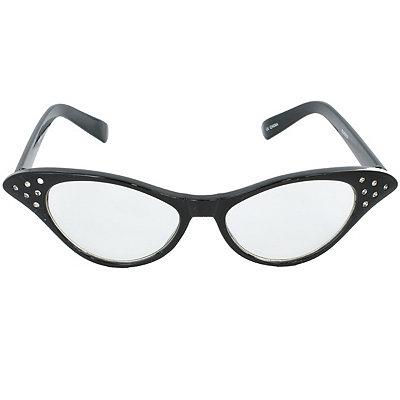 Unique Retro Vintage Style Sunglasses & Eyeglasses 50s Black Rhinestone Cat Eye Glasses $6.99 AT vintagedancer.com