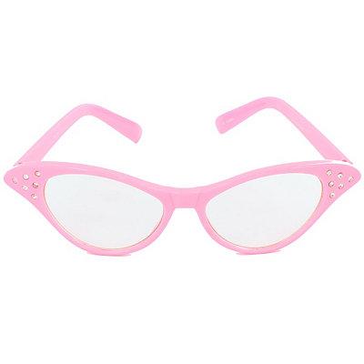 Unique Retro Vintage Style Sunglasses & Eyeglasses 50s Pink Rhinestone Cat Eye Glasses $6.99 AT vintagedancer.com