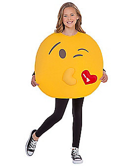 Kids Kissy Face Emoji Costume