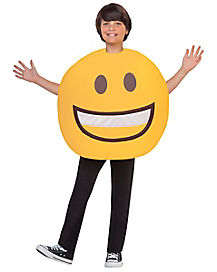Kids Smile Emoji Costume
