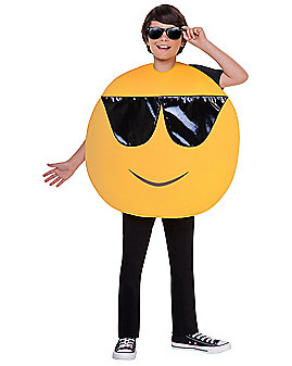 Kids Sunglasses Emoji Face Costume