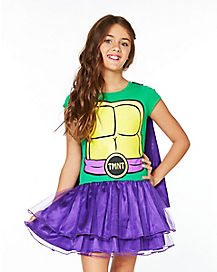 Kids Caped Donatello Dress Costume - Teenage Mutant Ninja Turtles