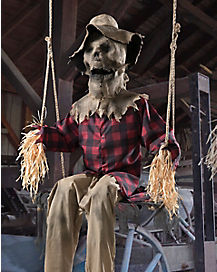 6 ft swinging scarecrow animatronics decorations