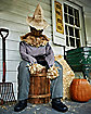 4.5 Ft Sitting Scarecrow Animatronics - Decorations