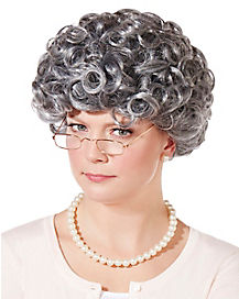 Curly Old Woman Wig