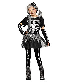 kids sassy skeleton costume