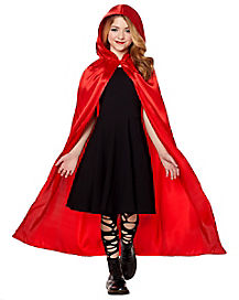 Kids Red Satin Cape