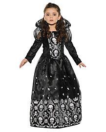 Kids Dark Skeleton Princess Costume