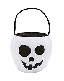 Skull Plush Treat Bucket