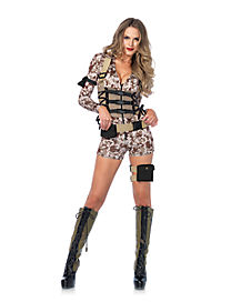 adult battlefield babe military costume - Halloween Army Costume