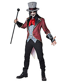 adult sinister ringmaster costume - Classic Mens Halloween Costumes