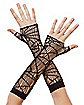 Spiderweb Fishnet Gloves