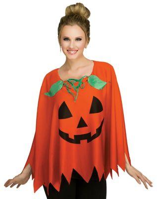 Vintage Retro Halloween Themed Clothing Adult Pumpkin Poncho by Spirit Halloween $19.99 AT vintagedancer.com