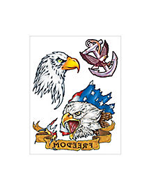 Military Hero Temporary Tattoos