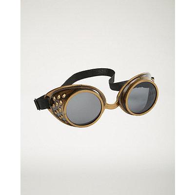 Men's Steampunk Goggles, Guns,  Accessories Metallic Steampunk Goggles $7.99 AT vintagedancer.com