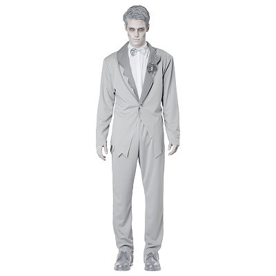 1950s Style Mens Suits Adult Ghostly Groom Costume $54.99 AT vintagedancer.com