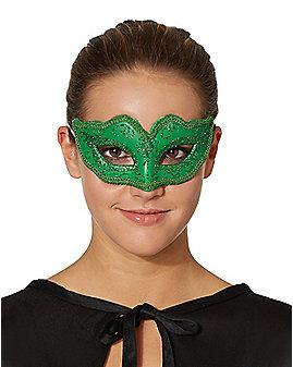 Green Venetian Half Mask