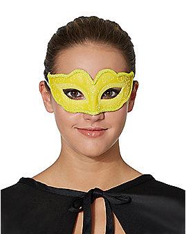 Yellow Venetian Half Mask