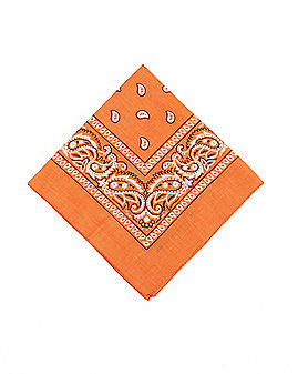 Adult Orange Paisley Bandana