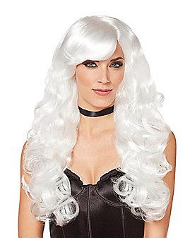 White Curls Wig