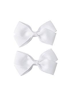2 Pack White Bows