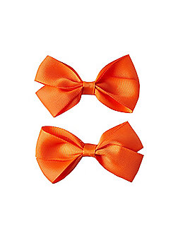 2 Pack Orange Bows
