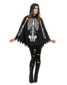 Adult Skeleton Poncho